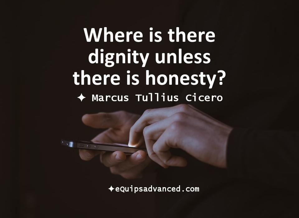 Honesty-Cicero